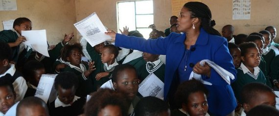 Teacher and her class in South Africa | Photo Courtesy of UNESCO/ Eva-Lotta Jansson